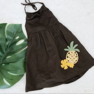 Janie & Jack Cotton Pineapple Dress 12-18 Months